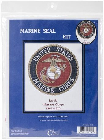United States Marine Corps Seal - Cross Stitch Kit