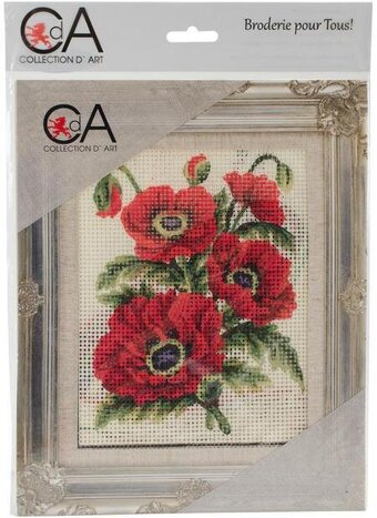 Poppies - Stamped Needlepoint Kit