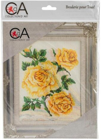 Yellow Roses - Stamped Needlepoint Kit