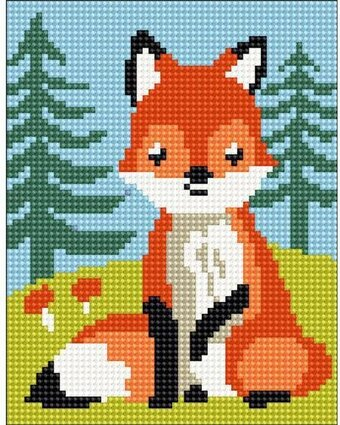 Fox Cub - Stamped Needlepoint Kit