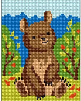 Bear - Stamped Needlepoint Kit