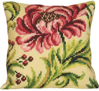 Rose Sauvage A Droite - Stamped Needlepoint Cushion Kit