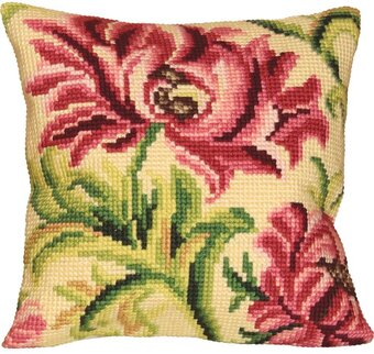 Rose Sauvage A Gauche Pillow - Needlepoint Kit