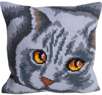 Persane Cat - Stamped Needlepoint Cushion Kit