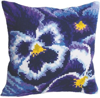 Hiver Flowers - Stamped Needlepoint Cushion Kit