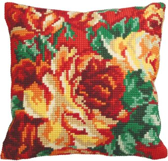 Rose Chou Gauche - Stamped Needlepoint Cushion Kit