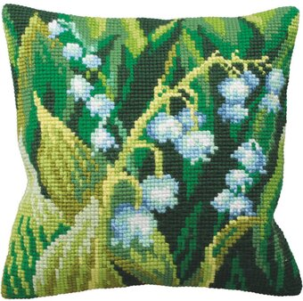 Muguet Gauche Pillow - Needlepoint Kit