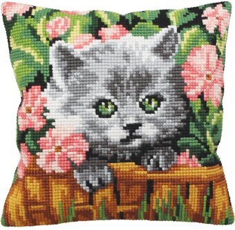 Minou - Stamped Needlepoint Cushion Kit