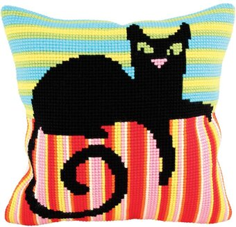 Mr. Handsome - Stamped Needlepoint Cushion Kit
