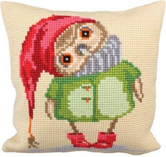 Good Night - Stamped Needlepoint Cushion Kit