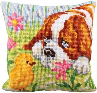 Encounter - Stamped Needlepoint Cushion Kit