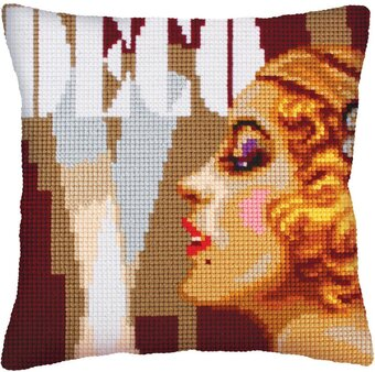 Art Deco II - Stamped Needlepoint Cushion Kit