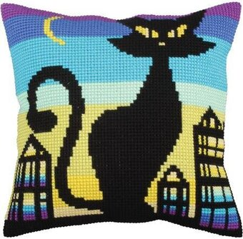 Black Grace - Stamped Needlepoint Cushion Kit