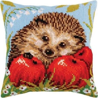 Hedgehog - Stamped Needlepoint Cushion Kit