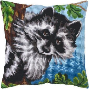 Little Raccoon - Stamped Needlepoint Cushion Kit