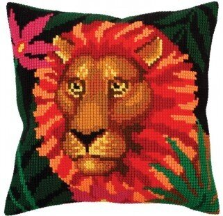 Night Jungle 2 - Stamped Needlepoint Cushion Kit