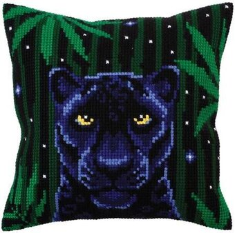 Night Jungle III - Stamped Needlepoint Cushion Kit
