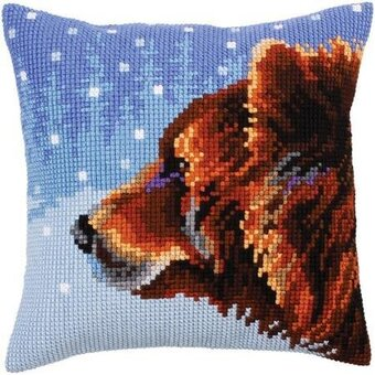 Winter Animals - Stamped Needlepoint Cushion Kit
