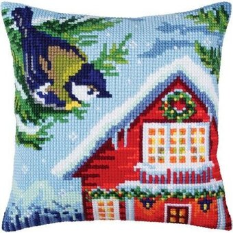 Before Christmas - Stamped Needlepoint Cushion Kit