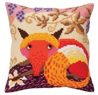 Fox and Grapes - Stamped Needlepoint Cushion Kit