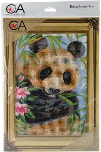 Panda - Stamped Needlepoint Kit