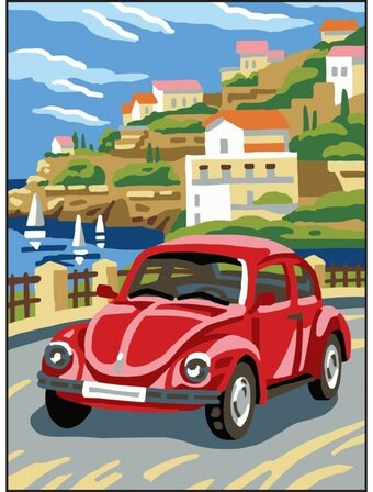 Car - Printed Tapestry Canvas Needlepoint