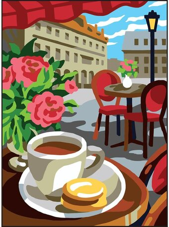 Cafe - Printed Tapestry Canvas Needlepoint