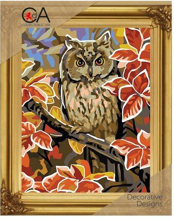 Autumn Owl - Printed Tapestry Canvas - Needlepoint Kit