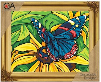 Butterfly - Printed Tapestry Canvas - Needlepoint Kit