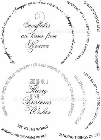 Sue Wilson Christmas Stamps - Snow Globe Sentiments