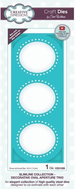 Decorative Oval Aperture Trio - Slimline Craft Die