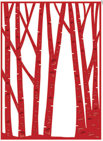 Creative Expressions Birch Tree Forest Woodland Collection Craft Die Set CED3096