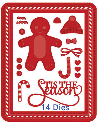 Sue Wilson Christmas Dies - Gingerbread Man