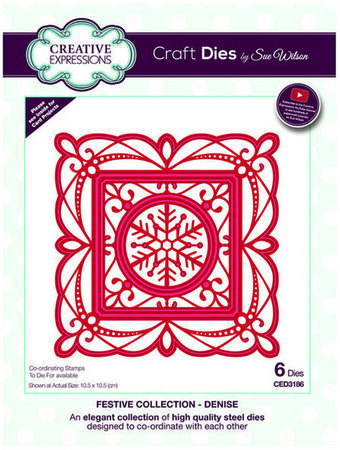 Denise (Snowflake Frame) - Christmas Craft Die