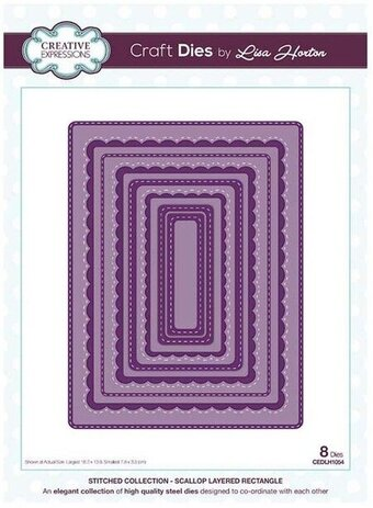 Scallop Layered Rectangle - Craft Die