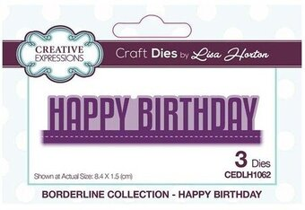 Happy Birthday Borderline - Craft Die