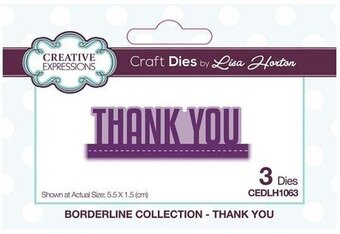 Thank You Borderline - Craft Die