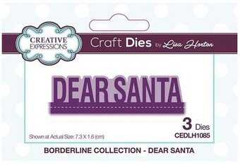 Dear Santa Christmas Borderline - Creative Expressions Die