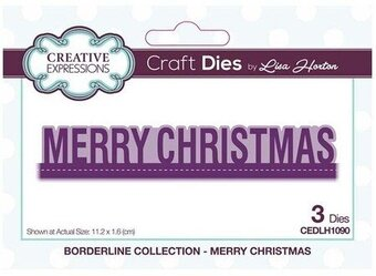 Merry Christmas Borderline - Creative Expressions Die