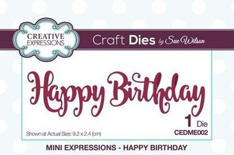 Sue Wilson Dies - Mini Expressions Happy Birthday