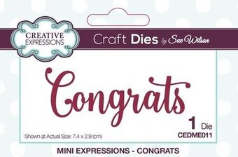 Fabulous word metal die Creative Expressions cutting dies CEDME012 by Sue Wilson