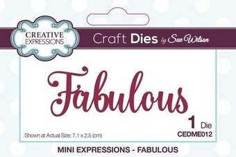 Sue Wilson Dies - Mini Expressions Fabulous