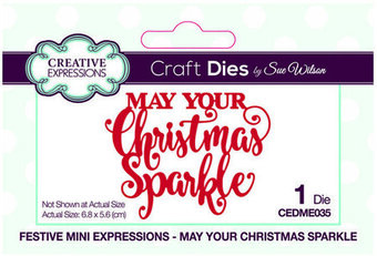 May Your Christmas Sparkle - Craft Die