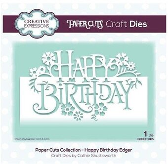 Happy Birthday Edger - Craft Die