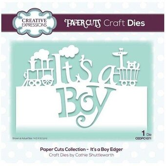 It's a Boy Edger - Craft Die