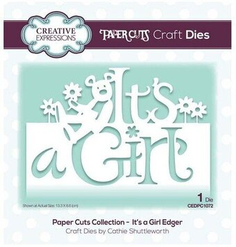 It's a Girl Edger - Craft Die