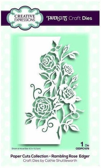 Paper Cuts Rambling Rose Edger - Creative Expressions Die