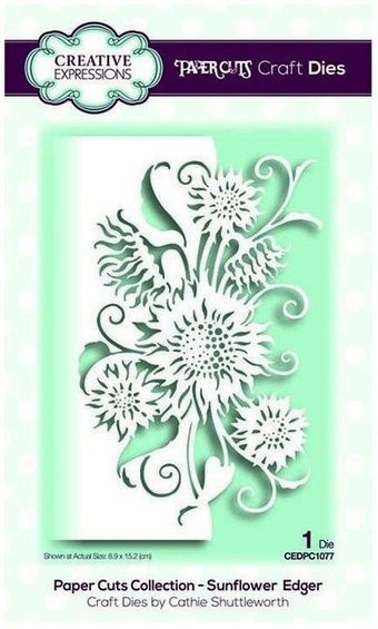 Paper Cuts Sunflower Edger - Creative Expressions Die