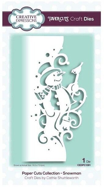 Christmas Expressions.Snowman Christmas Creative Expressions Craft Die