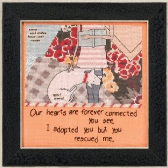 You Rescued Me (Curly Girl Design) - Beaded Cross Stitch Kit